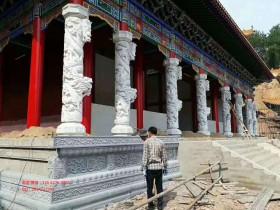寺庙花岗岩石龙柱广场石龙柱制作厂家_石龙柱多少钱一根