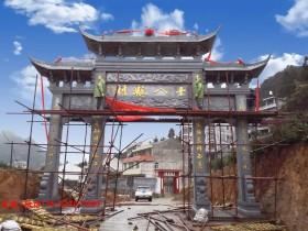 湖北武汉农村牌坊雕刻图案有何寓意